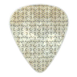 Modern Rattlesnake Snakeskin Tan Vegan Reptile Pearl Celluloid Guitar Pick