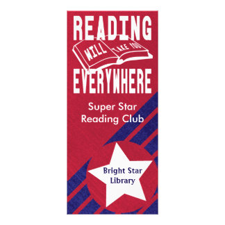 Modern Reading Will Take Your Everywhere Design Rack Card