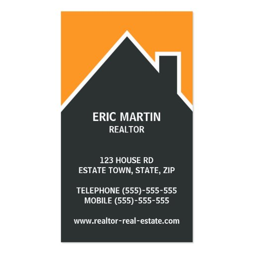 Modern real estate agent architect or realtor business for Modern real estate business cards