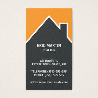 Modern real estate agent, architect or realtor business card