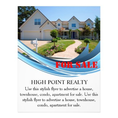 real estate listing flyer 2 sided red wave design zazzle com