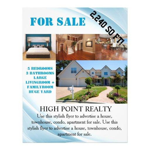 modern real estate realtor for sale flyer zazzle. Black Bedroom Furniture Sets. Home Design Ideas