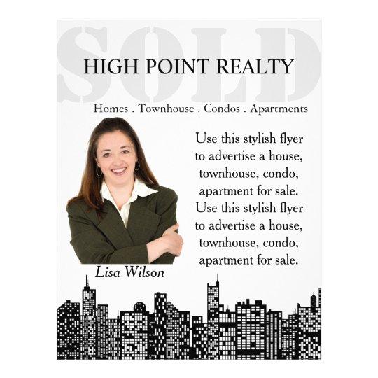 Modern real estate realtor for sale flyer zazzle for Modern realtors real estate