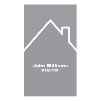 Modern realtor real estate gray business card