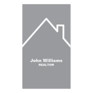 Modern realtor real estate gray business card