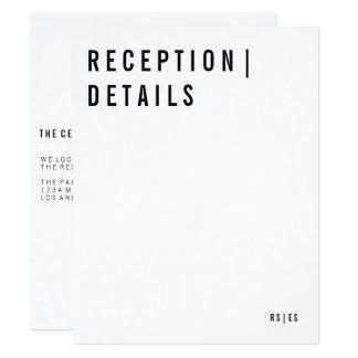 Modern Reception Card