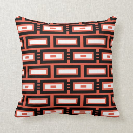 Modern Rectangle Pillow : Modern Rectangle Pattern Throw Pillow Zazzle