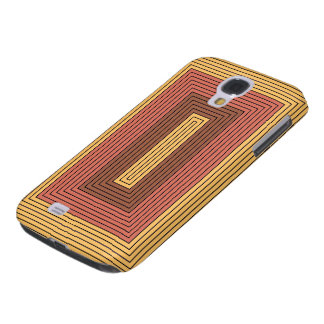 Modern rectangles in gamboge, vermilion Art design Galaxy S4 Case