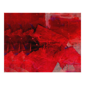 Modern Red Abstract Painting Art Flyer