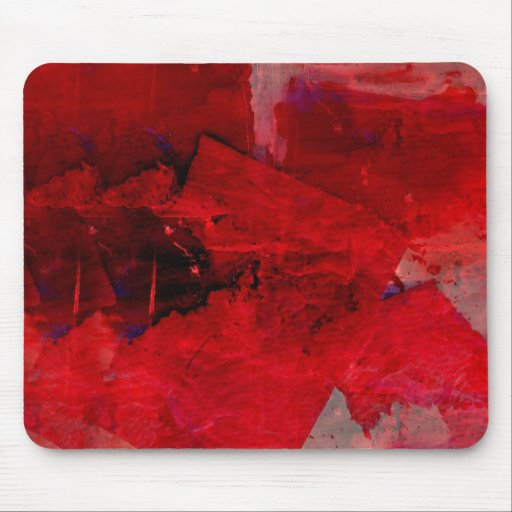 Modern Red Abstract Painting Art Mouse Pad