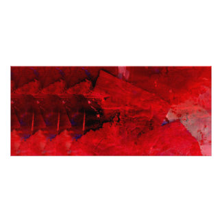 Modern Red Abstract Painting Art Rack Card