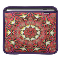 Modern Red Abstract Pattern iPad Sleeve