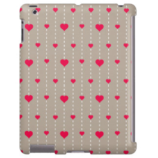 Modern Red and Beige Hearts Pattern