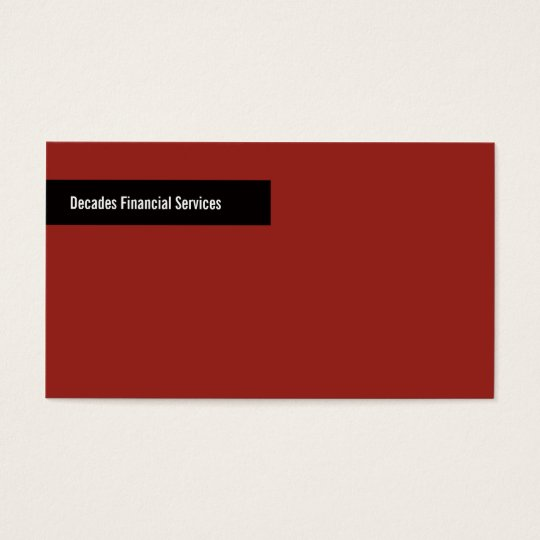 Modern Red and Black Business Card