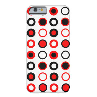 Modern Red and Black Circles Pattern Barely There iPhone 6 Case