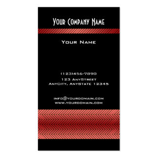 Modern Red and Black Racing Stripe Business Card