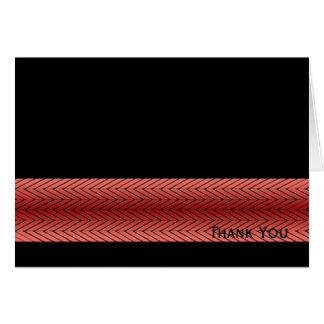 Modern Red and Black Racing Stripe Card
