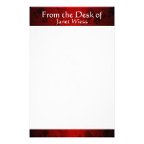 Modern Red and Black Rose Stationary Stationery