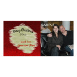 Modern Red and Gold Christmas Photo Card