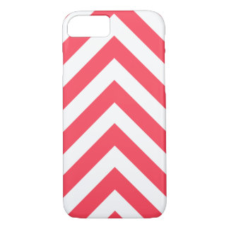 Modern Red and White Arrow Chevron iPhone 7 Case