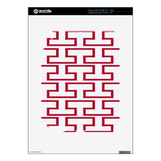 Modern Red and White Bricks iPad 2 Decals