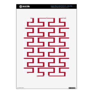 Modern Red and White Bricks iPad 3 Skins