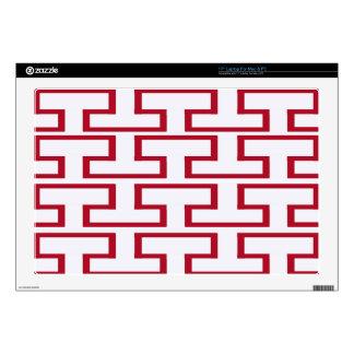 Modern Red and White Bricks Laptop Skins