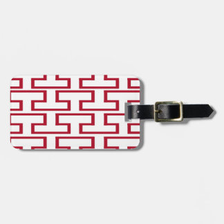 Modern Red and White Bricks Luggage Tag