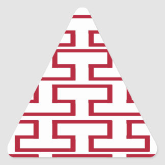 Modern Red and White Bricks Triangle Sticker
