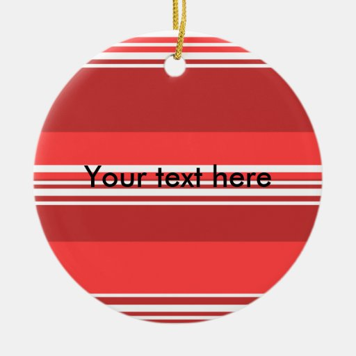 Modern red and white stripes ornaments