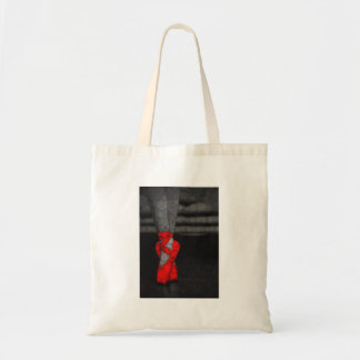 Modern Red Ballet Shoes Tote Bag