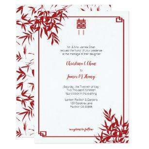 Modern Chinese Wedding Invitations Zazzle