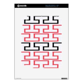 Modern Red Black and White Bricks iPad 2 Decals
