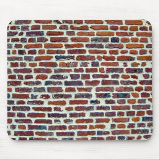Modern Red Brick Wall And White Line Texture Mouse Pads