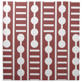 Modern Red Circles And Lines Cloth Napkin