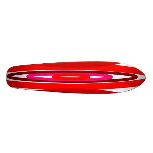 Modern red circles skate decks