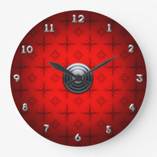 Modern Red Classic Large Clock