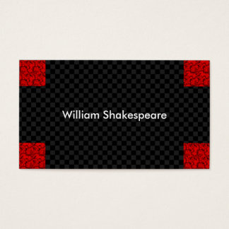 Modern Red Corners with Dark Background Business Card
