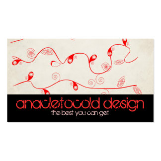 modern red decoration bussiness card