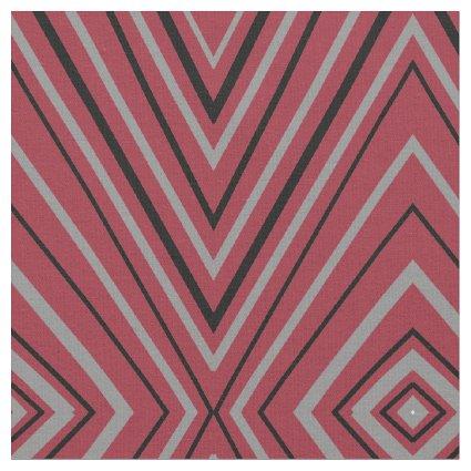 Modern Red Diamond Design Fabric