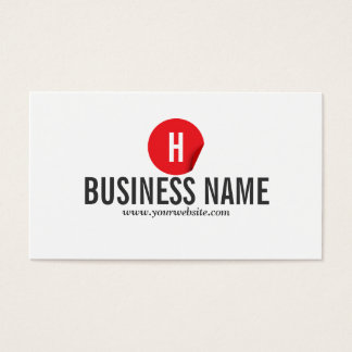 Modern Red Dot Referee Business Card