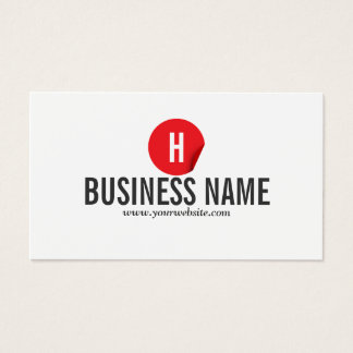 Modern Red Dot Tattoo Art Business Card