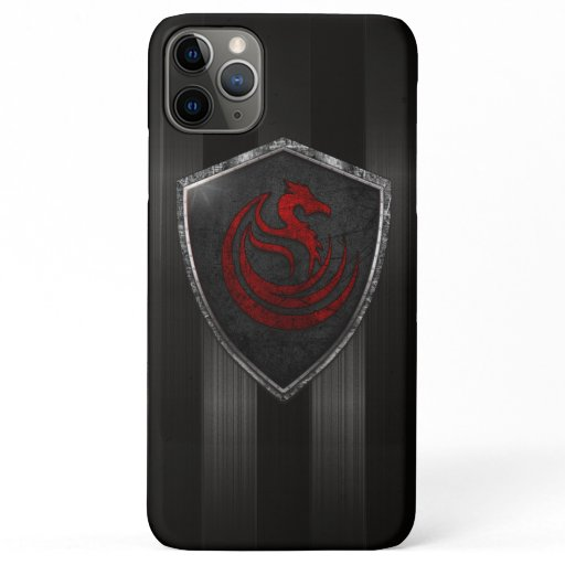 Modern Red Dragon Emblem Coat Of Arms iPhone 11 Pro Max Case