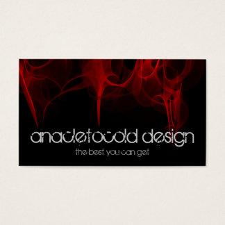 modern red fire bussiness card