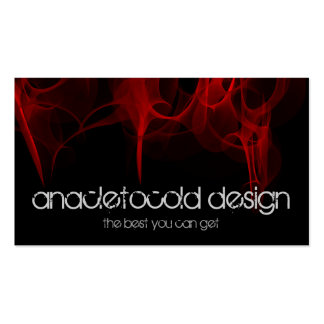modern red fire bussiness card business cards