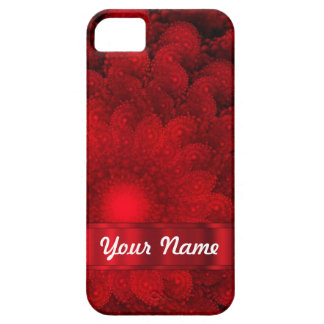 Modern red fractal abstract iPhone 5 case