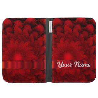 Modern red fractal abstract kindle covers