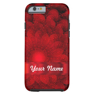 Modern red fractal abstract tough iPhone 6 case