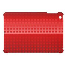 Modern Red Gradient Square Tiled Pattern iPad Mini Case