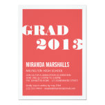 Modern Red Graduation Announcements